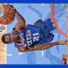 2013 Hoops Basketball Card Blue Parallel #16 Thaddeus Young