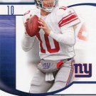 2009 SP Signature Football Card #111 Eli Manning