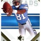 2009 SP Threads Football Card #15 Calvin Johnson