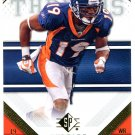 2009 SP Threads Football Card #36 Eddie Royal