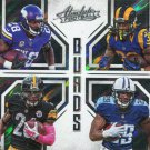2016 Absolute Football Card Quads #2 Peterson/Bell/Gurley/Murray