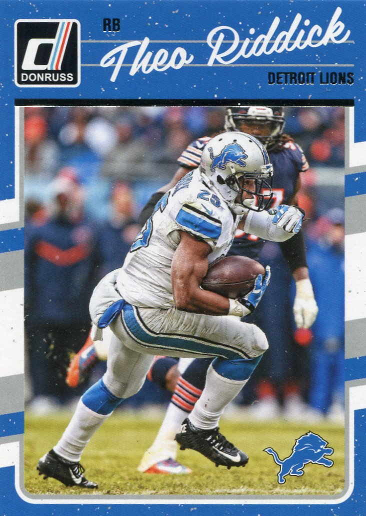 2016 Donruss Football Card #100 Theo Riddick