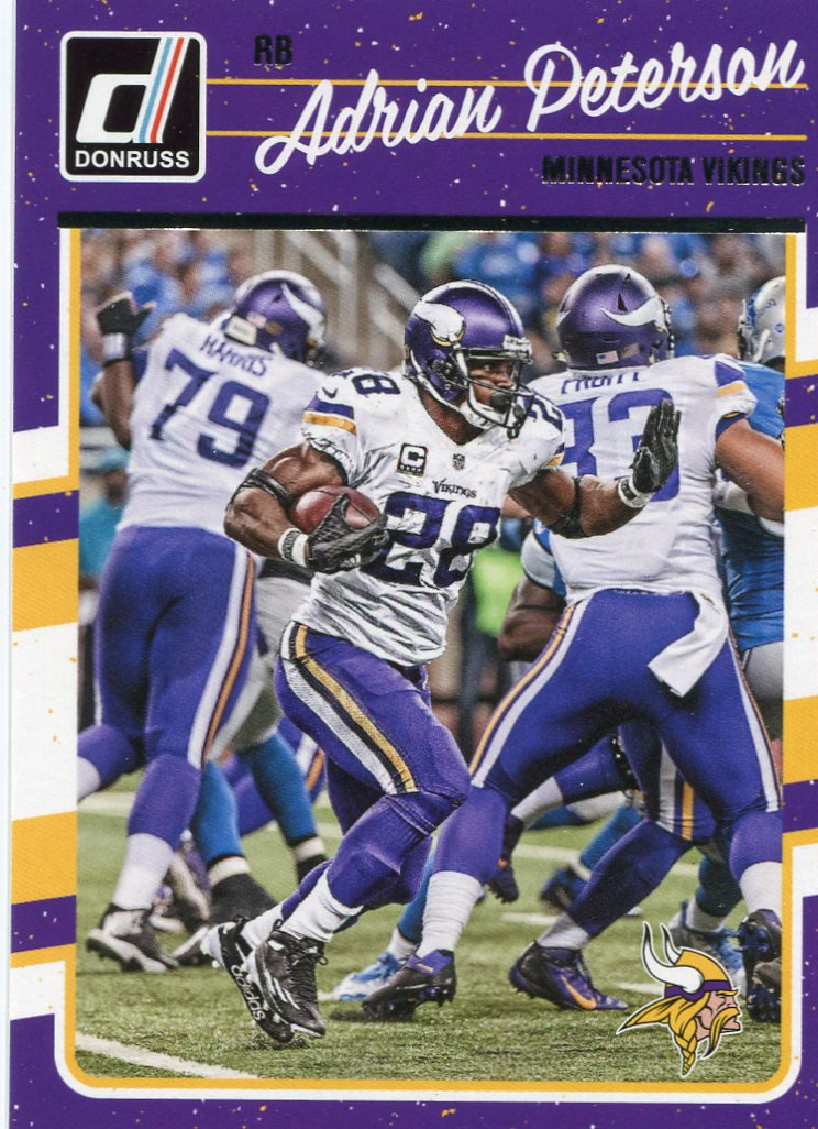 2016 Donruss Football Card #171 Adrian Peterson