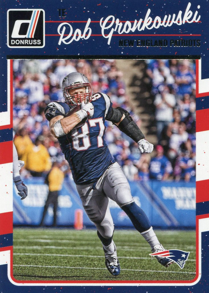 2016 Donruss Football Card #182 Rob Gronkowski
