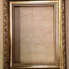 "8-1/2 x 11 1-1/4"" Gold Ornate Picture Frame"
