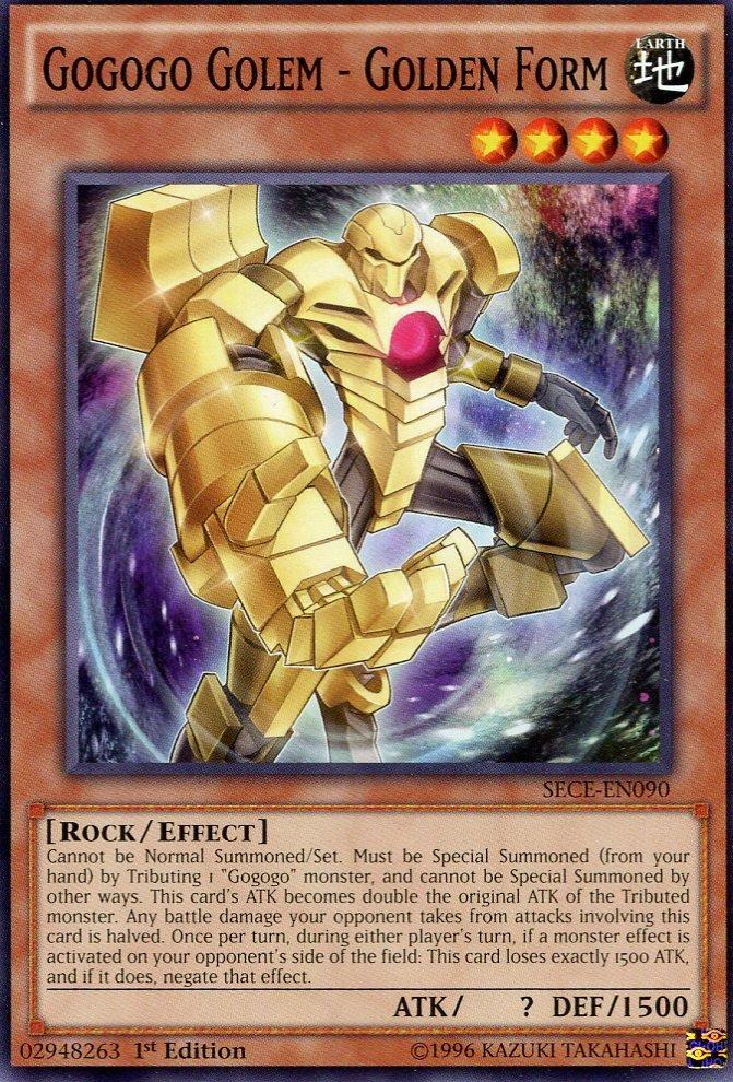 Yugioh - Secrets of Eternity - Gogogo Golem Golden Form - SECE-EN090