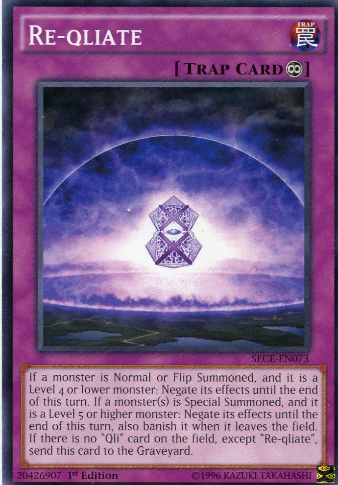 Yugioh - Secrets of Eternity - Re-Qliate - SECE-EN073