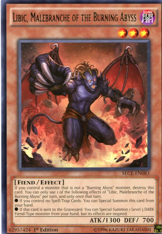 Yugioh - Secrets of Eternity - Libic, Membranche of the Burning Abyss - SECE-EN083