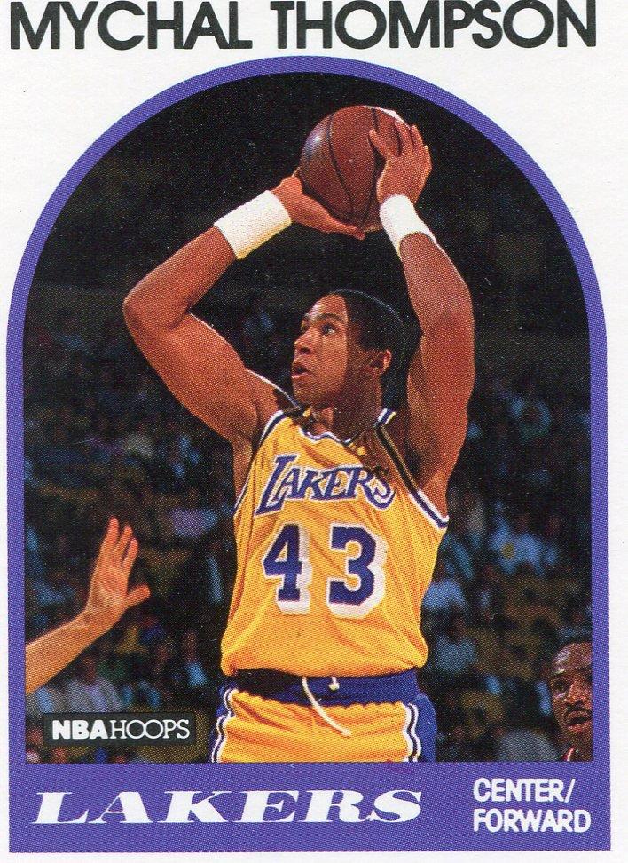 1989 Hoops Basketball Card #4 Mychal Thompson