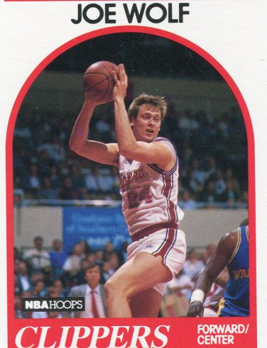 1989 Hoops Basketball Card #173 Joe Wolf