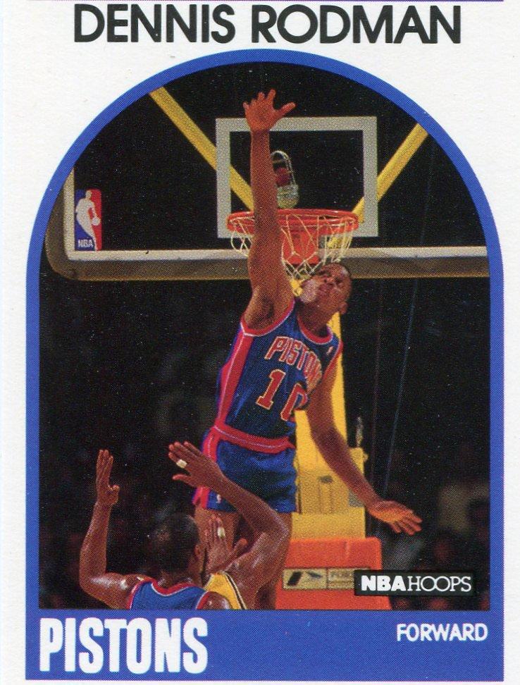 1989 Hoops Basketball Card #211 Dennis Rodman