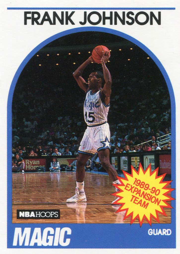 1989 Hoops Basketball Card #333 Frank Johnson