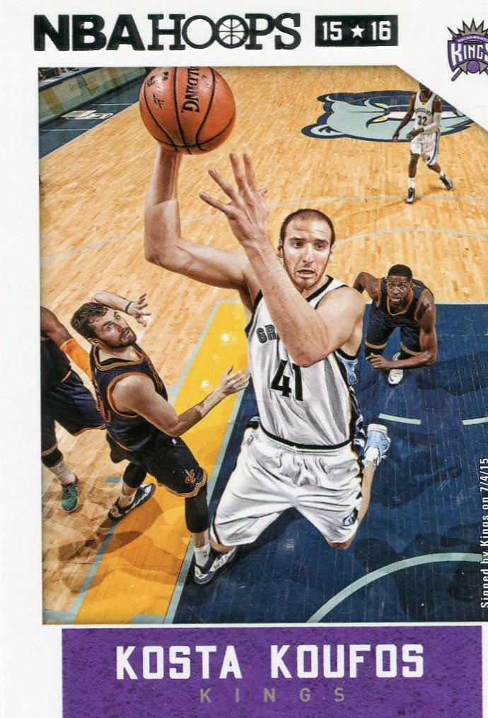 2015 Hoops Basketball Card #182 Kosta Koufos