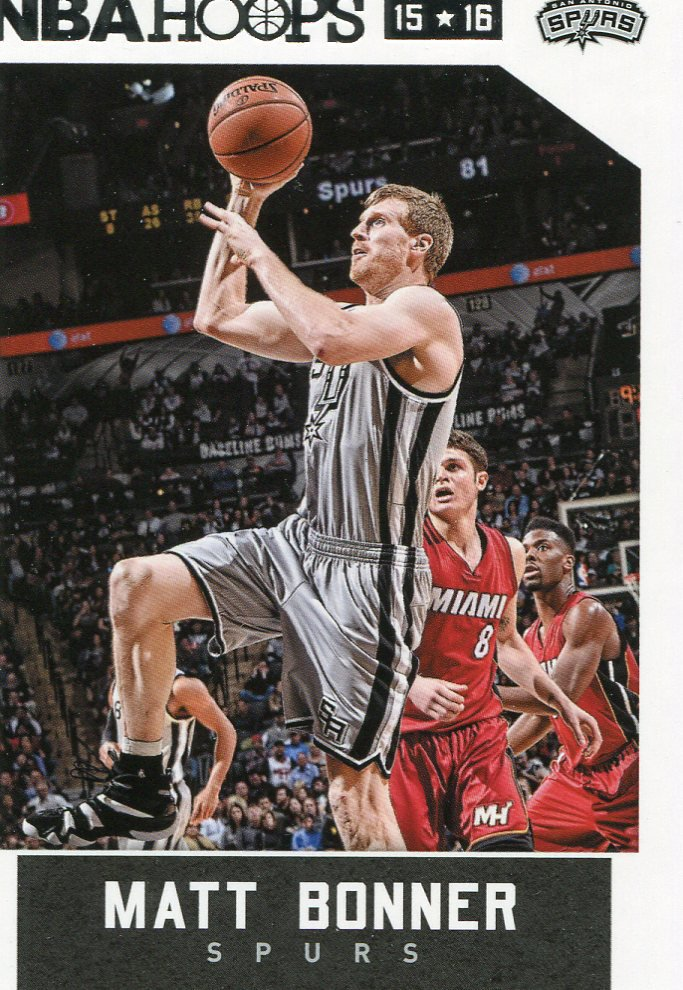 2015 Hoops Basketball Card #194 Matt Bonner