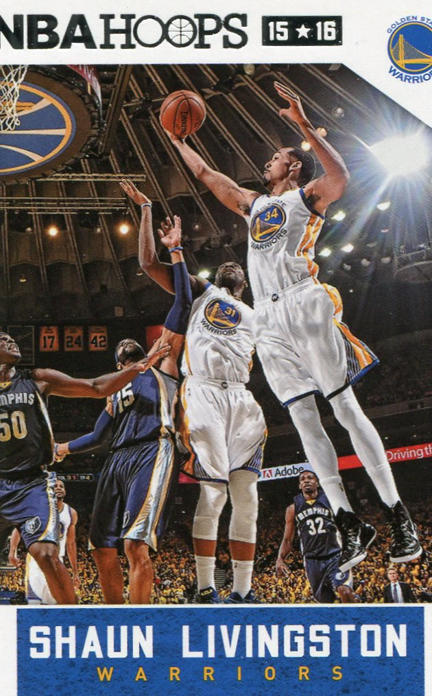 2015 Hoops Basketball Card #198 Shaun Livingston
