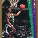 1992 Fleer Basketball Card #281 Dee Brown