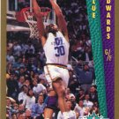 1992 Fleer Basketball Card #290 Blue Edwards