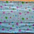 Blue with Stars Flannel Burp Cloth