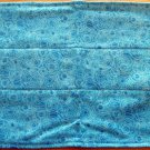 Blue Swirl Flannel Burp Cloth