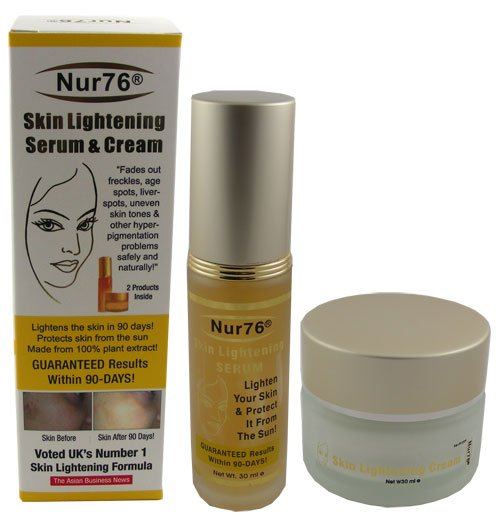 (Free Gift)Nur76® Skin Lightening Serum and Cream for Face Only (~90 Days Money Back Gaurantee~)