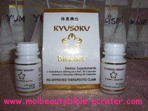 (Free gift)L-GLUTATHIONE VITAMIN C (KYUSOKU BIHAKU)SKIN BLEACHING