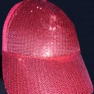 Unisex Hiphop Red Bling Bling Cap (Free Shipping Worldwide!!!)