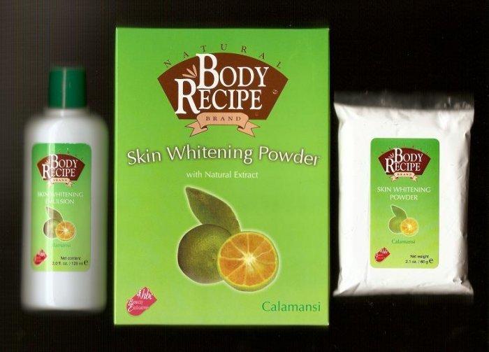 HBC Natural Body Recipe Brand Calamansi Skin Whitening Powder with Natural Extracts