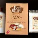 HBC Natural Body Recipe Brand MILK Plus Skin Lightening Powder with Goat's Milk