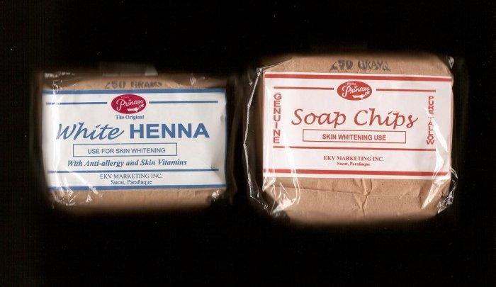 White Princess White Henna 250grams & White Princess Soap Chips 250grams