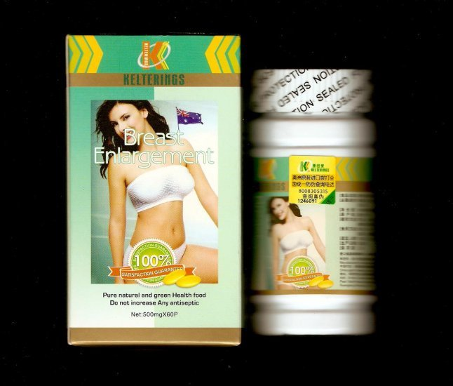 LOT of 4 bottles Kelterings Breast Enlargement Pills / Capsules ~3 Month Supply~
