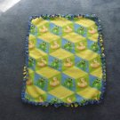 Ducks & Frogs fleece baby blanket