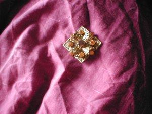 Gold Metal Brooch