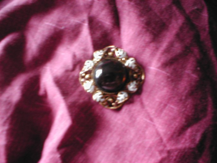 Stone and Gold Effect Brooch
