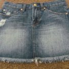 7 SEVEN FOR ALL MANKIND SKIRT Denim Distressed Raw Hem Size 25 NEW u344162u