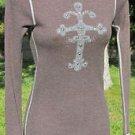 JACK & JINGER J& J XS Brown Embellished Long Sleeve NWOT