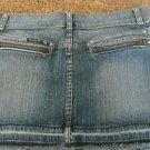 FRANKIE B SMALL/Medium  Denim Skirt with Zipper Back Pockets  EUC See Details