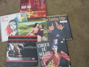 LASER DISC MOVIES 6 THE CUTTING EDGE BRIGADOOM APOLLO 13CIRQUE DE SOLEIL DROP Z