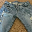 MACHINE JEANS 32 X 33 ½ Destroyed Wiskering Low Straight Leg EXCELLENT Free Ship