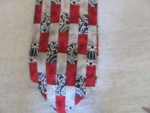 HICKEY FREEMAN TIE USA Blues Silvers Deep Red EUC  Extra Long