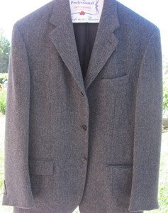 POLO RALPH LAUREN HERRINGBONE Wool Blend MEDIUM 41 Sport Coat Jacket EUC