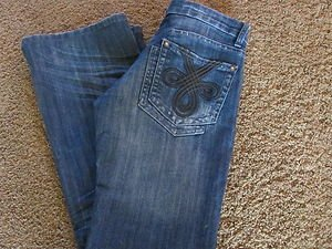 SMASH VINTAGE size 7 30 x 31  Low Rise Boot Cut Pre-owned  GREAT DETAILS