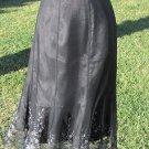 KAREN KANE  Size 6 Meshed Lined Skirt with Silver Embellished Scalloped Hem Line