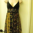 KATHRYN CONOVER SIZE 8 Spaghetti  Strap Embroidered Bodice Knee Length Dress USA