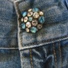 !IT JEANS Crystals Button Distress Low Boot NEW 26 X 32 Floral Design IT