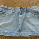 LUCKY BRAND JEANS SKIRT size 8 Distressed Mini  Super Cute