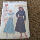 BUTTERICK 5766 WESTERN STYLE PATTERN COSTUME 6-8-10 Uncut Country Cowgirl