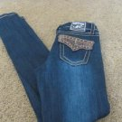 MISS CHIC MC JEANS Superstar Size 1 Leather STUD Flap Pockets Low SKINNY SEXYHOT