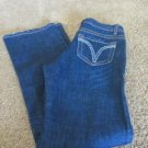 MAKERS USA MU DUNGAREES  JEANS 4 WESTERN V Stitch Tummy Control Rear Gaping NWT