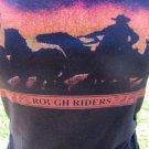 F.A.N.G TEE KNIT TOP Rough Riders Glittery Cowgirl Western Black Horses