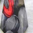 PICASSO HAND MADE HIGH FASHION Skinny Work of Art Neck TIE